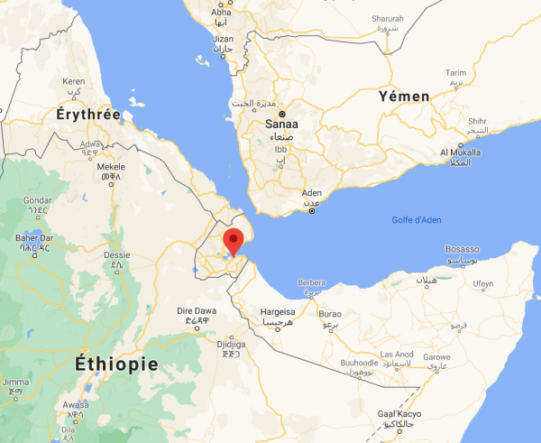 Location of Djibouti station - close-up view