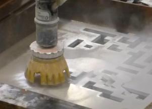 Usinage d'un prototype du masque d'ECLAIRs en aluminium