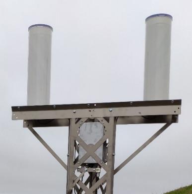 Localisation du boîtier électronique – exemple de la station de Santa Maria - crédit CNES