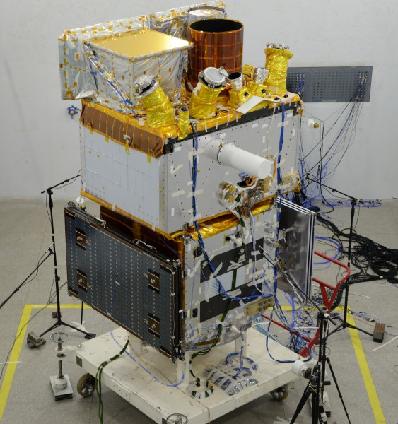 Acoustic test of the SVOM satellite, qualification model (Shanghai)