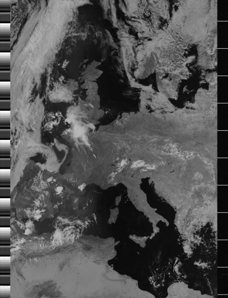 Image en visible reçue par une station à Saclay Crédits : CEA