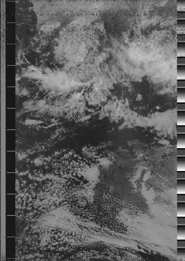 mage reconstituée à partir des données envoyées par le satellite NOAA18.