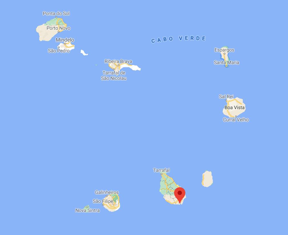 Localisation de la station du Cap-Vert