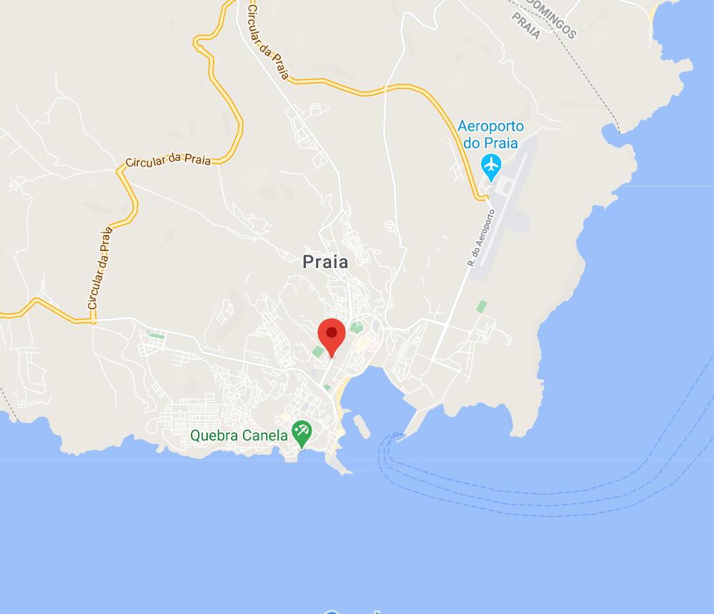 """Localisation de la station du Cap-Vert, """"vue rapprochée"""""""