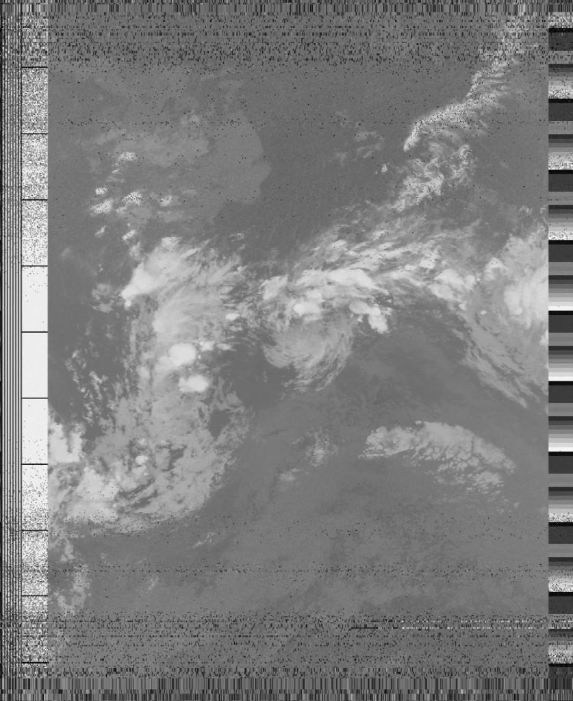 Image reconstituée à partir des données envoyées par le satellite NOAA18