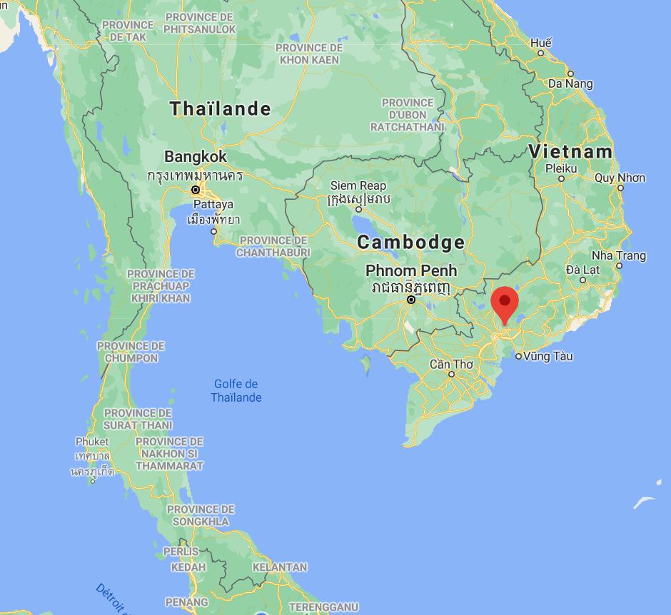 Localisation de la station d'Ho Chi Minh