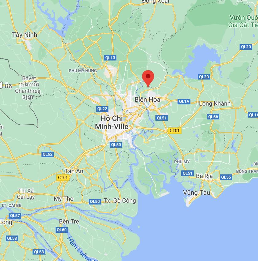"""Localisation de la station d'Ho Chi Minh, """"vue rapprochée"""""""