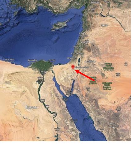 Localisation de la station Wise en Israël