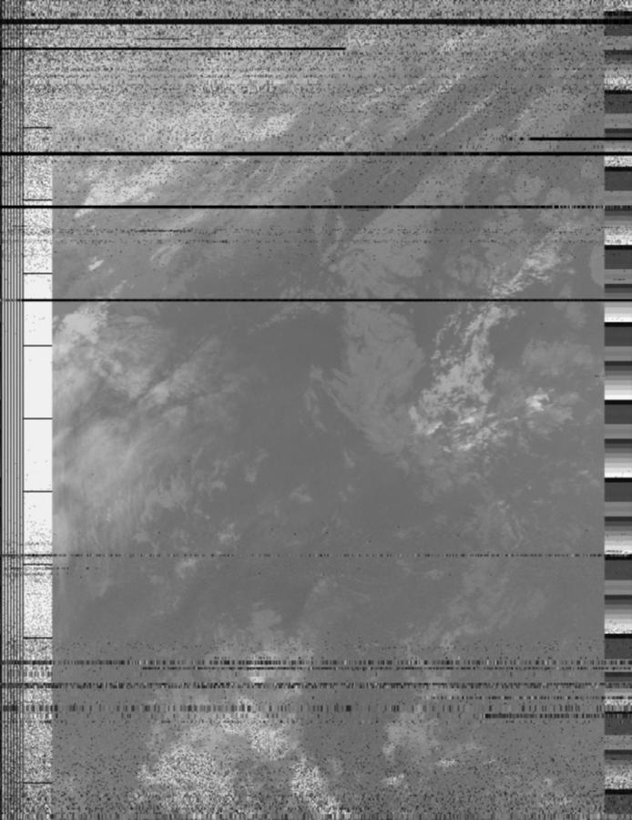 Image en infrarouge reconstituée à partir des données envoyées par le satellite NOAA19