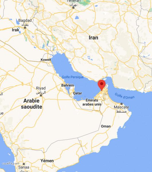 Localisation de la station Charjah aux Emirats Arabes Unis