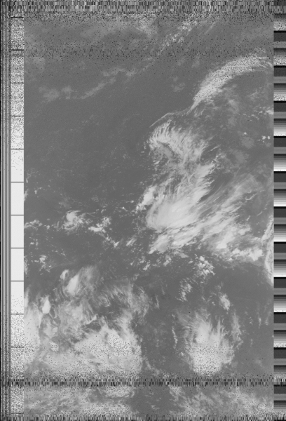 Image reconstituée à partir des données envoyées par le satellite NOAA18.