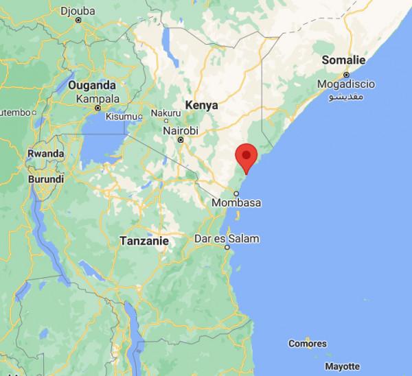 Localisation de la station à Malindi au Kenya