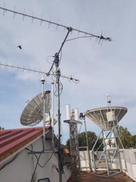 La station a été installée sur letoit d'un batiment du Luigi Broglio Space Center