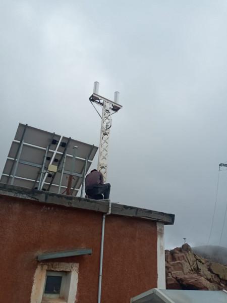 La station est installée sur le toit site d'un bâtiment de l'observatoire