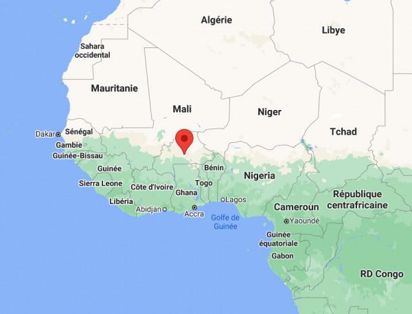 Localisation de la station à Ouagadougou au Burkina Faso