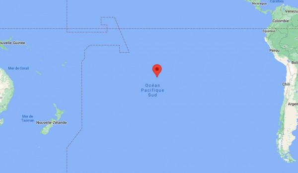 Localisation de la station Rikitea sur l'île de Mangareva en Polynésie française