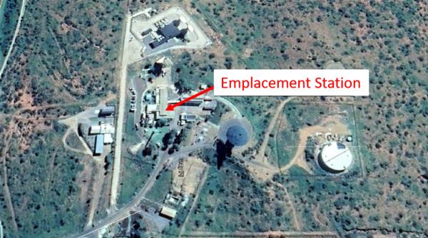 Localisation de la station sur le site du Carnarvon Space and Technology (vue rapprochée)