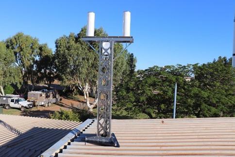 La station SVOM a été installée sur un toit du musée.